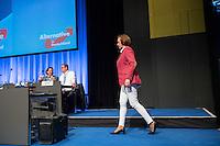 """5. Bundesparteitag der rechtspopulistischen Partei """"Alternative fuer Deutschland"""", AfD, in Stuttgart.<br /> Die Partei will auf dem Parteitag ein Parteiprogramm beschliessen.<br /> Im Bild: Beatrix Amelie Ehrengard Eilika von Storch, Europaabgeordnete und stellvertretende Parteivorsitzende.<br /> 30.4.2016, Stuttgart<br /> Copyright: Christian-Ditsch.de<br /> [Inhaltsveraendernde Manipulation des Fotos nur nach ausdruecklicher Genehmigung des Fotografen. Vereinbarungen ueber Abtretung von Persoenlichkeitsrechten/Model Release der abgebildeten Person/Personen liegen nicht vor. NO MODEL RELEASE! Nur fuer Redaktionelle Zwecke. Don't publish without copyright Christian-Ditsch.de, Veroeffentlichung nur mit Fotografennennung, sowie gegen Honorar, MwSt. und Beleg. Konto: I N G - D i B a, IBAN DE58500105175400192269, BIC INGDDEFFXXX, Kontakt: post@christian-ditsch.de<br /> Bei der Bearbeitung der Dateiinformationen darf die Urheberkennzeichnung in den EXIF- und  IPTC-Daten nicht entfernt werden, diese sind in digitalen Medien nach §95c UrhG rechtlich geschuetzt. Der Urhebervermerk wird gemaess §13 UrhG verlangt.]"""