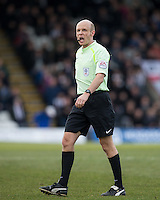 Referee Nick Kinseley during the Sky Bet League 2 match between Grimsby Town and Wycombe Wanderers at Blundell Park, Cleethorpes, England on 4 March 2017. Photo by Andy Rowland / PRiME Media Images.