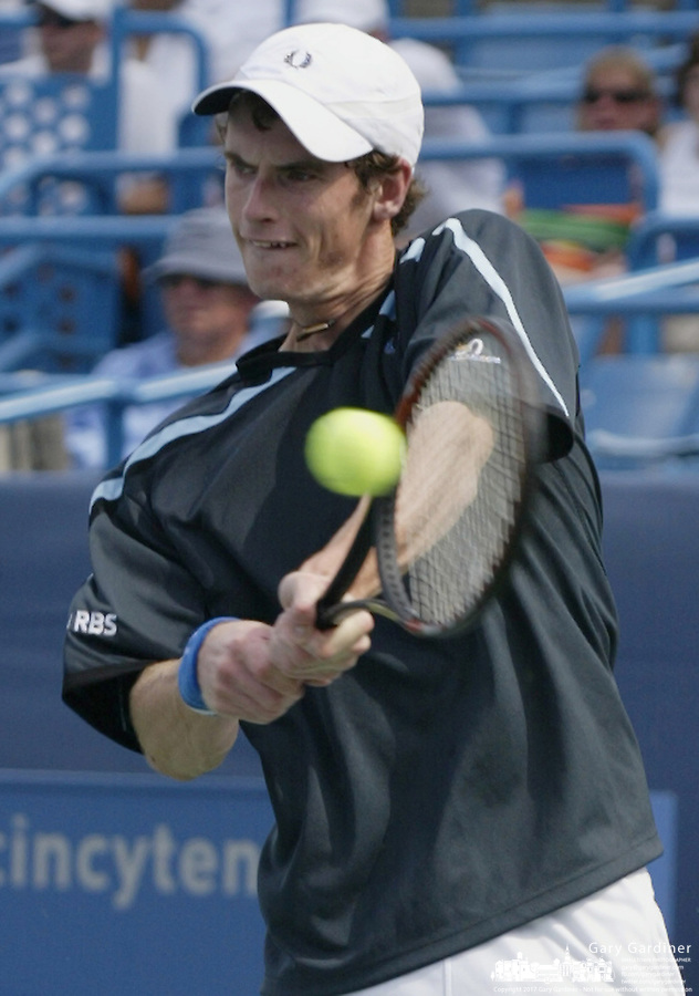 17 August 2006: Andy Murray, of Great Britain, plays during the during the ATP Cincinnati Masters tennis tournament in Mason, Ohio.<br />