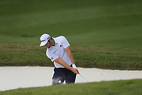 Jon Rahm (ESP) on the 2nd green side bunker during the 1st round at the WGC HSBC Champions 2018, Sheshan Golf CLub, Shanghai, China. 25/10/2018.<br /> Picture Phil Inglis / Golffile.ie<br /> <br /> All photo usage must carry mandatory copyright credit (&copy; Golffile | Phil Inglis)