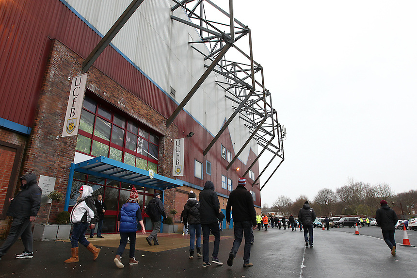 Burnley fans arrive at Turf Moor<br /> <br /> Photographer Rich Linley/CameraSport<br /> <br /> Football - Barclays Premiership - Burnley v Swansea City - Friday 27th February 2015 - Turf Moor - Burnley<br /> <br /> &copy; CameraSport - 43 Linden Ave. Countesthorpe. Leicester. England. LE8 5PG - Tel: +44 (0) 116 277 4147 - admin@camerasport.com - www.camerasport.com
