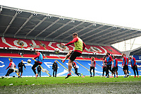 Sam Vokes of Wales in action during the Wales Training Session at the Cardiff City Stadium in Cardiff, Wales, UK. Thursday 15 November 2018