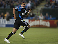 Jason Hernandez runs to help defend the goal. The San Jose Earthquakes tied the Philadelphia Union 0-0 at Buck Shaw Stadium in Santa Clara, California on July 9th, 2011.