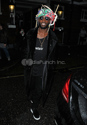 Tinie Tempah ( Patrick Okogwu ) at the Vivienne Westwood LFW (Men's) a/w 2017 catwalk show, Seymour Leisure Centre, Seymour Place, London, England, UK, on Monday 09 January 2017. <br /> CAP/CAN<br /> &copy;CAN/Capital Pictures /MediaPunch ***NORTH AND SOUTH AMERICAS ONLY***