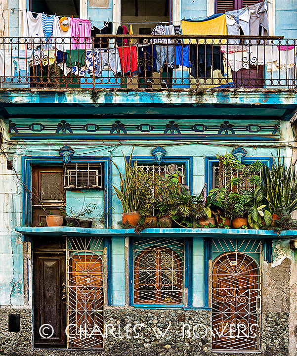 Everyday Cuba every balcony is in use for any necessity<br /> <br /> -Limited Edition of 50 prints.