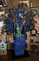 WEST HOLLYWOOD, CA - DECEMBER 13: The peacock costume behind the scenes at the premiere karaoke event for season one of THE MASKED SINGER on Thursday, Dec.13 at The Peppermint Club in West Hollywood, California. (Photo by Scott Kirkland/FOX/PictureGroup)