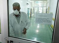 Napoli  Prima vittima italiana  del virus H1N1 ,   un uomo di 51 anni e morto all'ospedale Cotugno di Napoli....foto ciro de luca\agnfoto