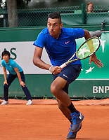 Paris, France, 25 June, 2016, Tennis, Roland Garros, Nick Kyrgios (AUS) in his match against Igor Sijsling (NED)<br /> Photo: Henk Koster/tennisimages.com