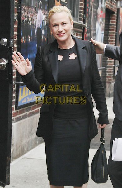 NEW YORK, NY - MARCH 10: Patricia Arquette at Late Show with David Letterman in New York City on March 10, 2015. Credit: RW/MediaPunch<br /> CAP/MPI/COR99<br /> &copy;COR99/MPI/Capital Pictures