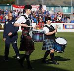 Kenny McDowall enjoying the pre-match entertainment