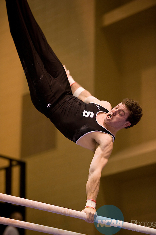 16 APR 2010:  Ryan Lieberman of Stanford University competes on the parallel bars during the Division I Men's Gymnastics Championship held at the Holleder Center on the U.S. Military Academy campus in West Point, NY. Lieberman scored a 15.250 on the event. Jon Malinowski/NCAA Photos