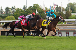 """September 19, 2020: Starship Jubilee #4, ridden by Justin Stein surges to win the Ricoh Woodbine Mile, a Breeders' Cup """"Win and You're In Race"""" at Woodbine Racetrack in Toronto, Ontario, Canada Victor Biro/Eclipse Sportswire/CSM"""