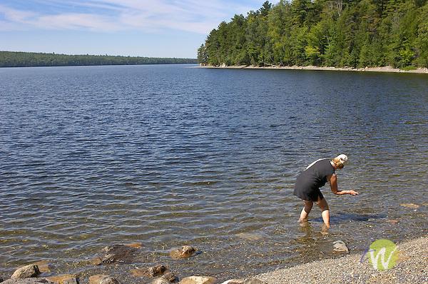 Barbara Reeder skipping rocks