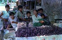 Myanmar street scenes in 1996