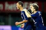 Nederland, Alkmaar, 20 oktober  2012.Eredivisie.Seizoen 2012-2013.AZ-N.E.C..Ryan Koolwijk van N.E.C. scoort de 2-0 en juicht