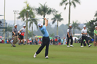 Matthew Fitzpatrick (Europe) on the 6th fairway during the Saturday Foursomes of the Eurasia Cup at Glenmarie Golf and Country Club on the 13th January 2018.<br /> Picture:  Thos Caffrey / www.golffile.ie