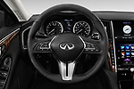 Car pictures of steering wheel view of a 2018 Infiniti Q50 Premium 4 Door Sedan