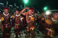 índios Xinguanos durante os jogos indígenas.<br /> Marudá, Pará, Brasil<br /> Paulo Santos/Interfoto<br /> 09/2002