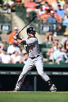 Detroit Tigers catcher Austin Green (71) during a Spring Training game against the Baltimore Orioles on March 4, 2015 at Ed Smith Stadium in Sarasota, Florida.  Detroit defeated Baltimore 5-4.  (Mike Janes/Four Seam Images)