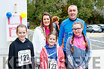 Aoife, Olivia and Aisling Kelliher with Maurice and Naoise O'Carroll, who took part in CBS, The Green fun run on Sunday last.