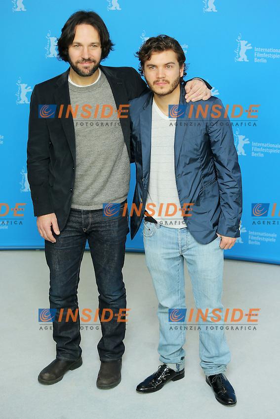 Paul Rudd, Emile Hirsch. Berlin 13/02/2013. 63th Berlinale 'Prince Avalanche' photocall. foto Mark Cape/Insidefoto