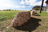 Ulehawa Historic Site, remains of traditional Hawaiian settlement, Waianae, O'ahu.