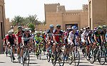The start of Stage 1, The ADNOC Stage, of the 2015 Abu Dhabi Tour, running 174 km from Qasr Al Sarab to Madinat Zayed, Abu Dhabi. 8th October 2015.<br /> Picture: ANSA/Claudio Peri | Newsfile