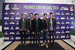 Dvicio music band poses during Cadena Dial music awards presentation in Madrid, Spain. February 05, 2015. (ALTERPHOTOS/Victor Blanco)