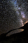 """Landscape Arch shows why it's the true """"Delicate Arch"""" with the Milky Way as a backdrop."""