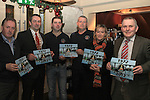 Ken O'Heiligh, Richie Culhane, David Everitt, Eamonn Fagan, Imelda Munster and Frank Gallagher at the Launch of the River Rescue Calendar in the Westcourt..(Photo credit should read Jenny Matthews www.newsfile.ie)....This Picture has been sent you under the conditions enclosed by:.Newsfile Ltd..The Studio,.Millmount Abbey,.Drogheda,.Co Meath..Ireland..Tel: +353(0)41-9871240.Fax: +353(0)41-9871260.GSM: +353(0)86-2500958.email: pictures@newsfile.ie.www.newsfile.ie.