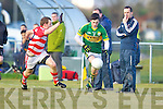 Paul Murphy  Kerry in action against Sean Finn Cork IT in the semi final of the McGrath Cup at John Mitchells Grounds on Sunday.