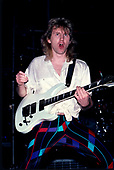 TRIUMPH - Rik Emmett - performing live on The Sport of Kings Tour at the Long Beach Arena in Long Beach CA USA - 30 Jan 1987.  Photo credit: David Plastik/IconicPix