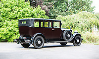 BNPS.co.uk (01202 558833)<br /> Pic: Bonhams/BNPS<br /> <br /> Last survivor...exotic history of an almost forgotten British marque.<br /> <br /> A Maharaja's motor which was carried hundreds of miles across the Himalayas to him has emerged for sale for £40,000.<br /> <br /> The 1926 Crossley's first owner was Maharaja Juddha Shamsher Jang Bahadur Rana, who had it shipped out from the manufacturer's Manchester factory to exotic Calcutta in India.<br /> <br /> Since there was only two miles of road which could be driven in Nepal, the classic car was carried over the mountainous landscape by his unfortunate porters.<br /> <br /> It was used by successive Rana family rulers, who styled themselves as 'heriditary Prime Ministers of Nepal', before leaving the country in 1968, finding a new home in Salt Lake City, US.<br /> <br /> This burgundy model, the 20.9HP Canberra Landaulette, is believed to be the only surviving example of its type in the world. It is going under the hammer with auction house Bonhams, of London.