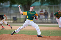 South Vermont Mountaineers starting pitcher Joe Braim (23) during a game against the Edgewood Eagles on March 18, 2019 at Lee County Player Development Complex in Fort Myers, Florida.  South Vermont defeated Edgewood 19-6.  (Mike Janes/Four Seam Images)