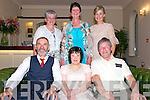 Breda Healy from Knockanes seated in the centre celebrated her 50th birthday with Padraig Cashman, John Coakley, Top L-R Joan O'Connor, Eilish Coskley and Noreen Cashman in Darby O'Gills Country House Hotel last Saturday night.