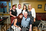 Jim Lyons, St Johns Park Tralee, celebrating his 67th birthday with family and Friends at the Brogue Inn on Friday Pictured Fiona O'Connor, Jim Lyons, Back Anne Lyons, Paul O'Connor, Sarah Buckley and Mairéad Rael
