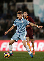 Calcio, Serie A: Roma, stadio Olimpico, 1marzo 2017.<br /> Lazio's Ciro Immobile in action during the Italian TIM Cup 1st leg semifinal football match between Lazio and AS Roma at Rome's Olympic stadium, on March 1, 2017.<br /> UPDATE IMAGES PRESS/Isabella Bonotto