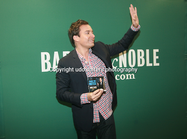 Jimmy Fallon at the Book Signing for Jimmy Fallon's new book Thank You Notes at Barnes & Nobles' Upstairs at the Square, New York  5/25/11