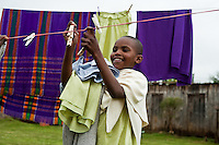 Njabini, Kenya - the Flying Kites orphanage or  children's home near the Aberdare mountains.