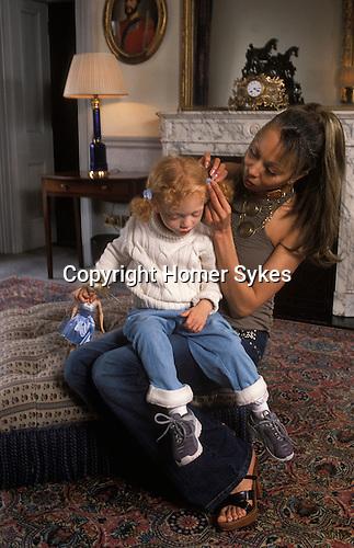 Angela and Anna ( 3yrs old ) Ermakowa. London, England. Love child of Boris Becker. 2003