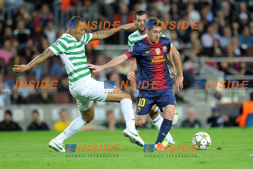 Lionel Messi ( Barcelone ) .Barcellona 23/10/2012 Camp Nou.Football Calcio 2012/2013 Champions League.Barcellona Vs Celtic.Foto Paco Largo / Panoramic / Insidefoto .ITALY ONLY