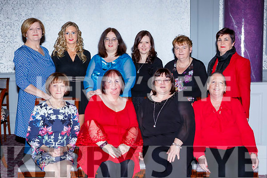 The staff of the Department of Justice Killarney enjoying the Christmas party in the Dromhall Hotel on Friday night Geraldine Guilfoyle, Frances Hayesm Katy Ivory and Mary Brosnan. Back row: Ann O'Connell, Mary Bennett, Margaret Sheehan, Anne Brid Reidy, Ann Leen and Mary O'Leary
