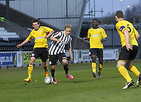 Sander Puri gets the better of Kris Faulds in the St Mirren v Falkirk Clydesdale Bank Scottish Premier League Under 20 match played at St Mirren Park, Paisley on 30.4.13. .