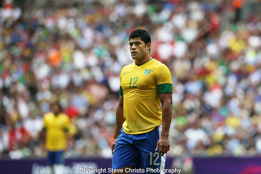 Brazil's Givanildo Vieira de Souza or Hulk in action against Mexico during the gold medal match at Wembley Stadium, London, UK. Saturday 11th August 2012. (Photo: Steve Christo)