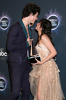 LOS ANGELES - NOV 24:  Shawn Mendes, Camila Cabello at the 47th American Music Awards - Press Room at Microsoft Theater on November 24, 2019 in Los Angeles, CA
