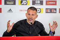 2019 10 03 Wales Press Conference at Jenner Park in Barry, Wales, UK.