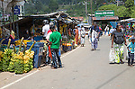 People at market in town of Haputale, Badulla District, Uva Province, Sri Lanka, Asia