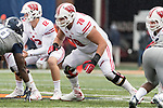 Wisconsin Badgers offensive lineman Jason Erdmann (78) during an NCAA College Big Ten Conference football game against the Illinois Fighting Illini Saturday, October 28, 2017, in Champaign, Illinois. The Badgers won 24-10. (Photo by David Stluka)