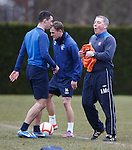 Ally McCoist with Lee Wallace and Dean Shiels
