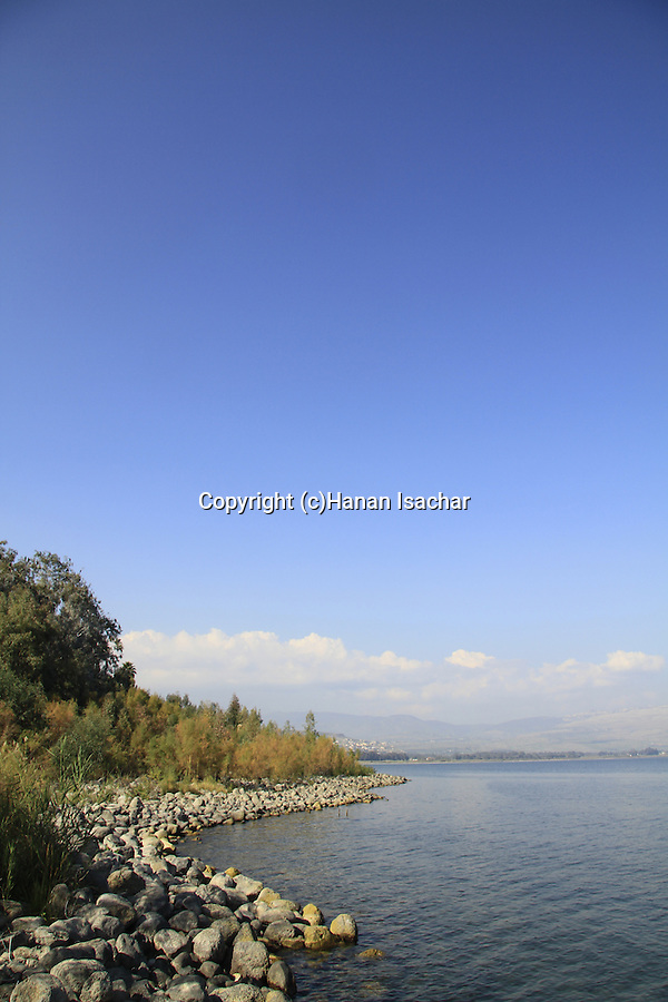Israel, Sea of Galilee, the shore of Magdala, the birthplace of Mary Magdalene